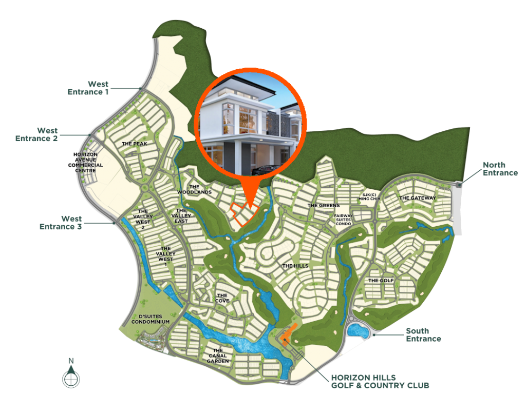 Master Plan-The Woodlands-Cluster Home