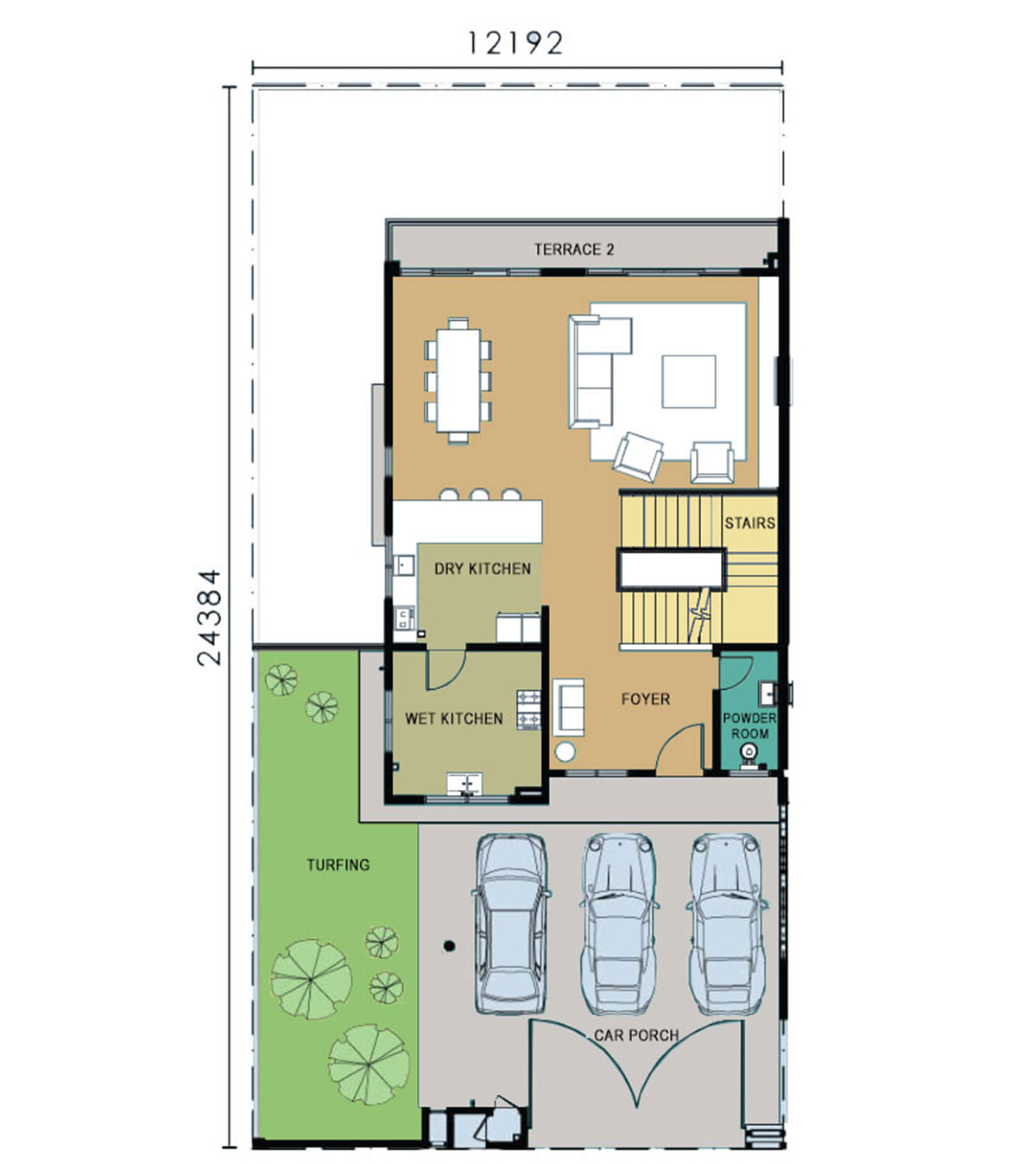 3-Storey Semi-Detached - Type C - First Floor