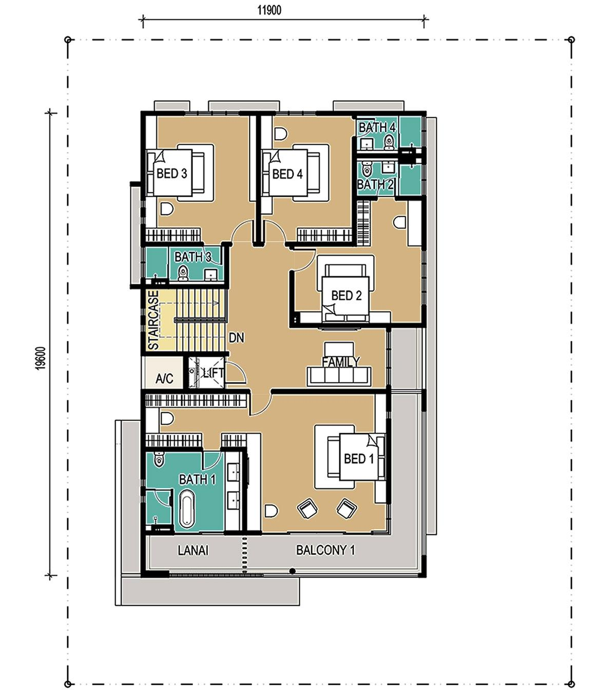2-Storey - Bungalow - First Floor