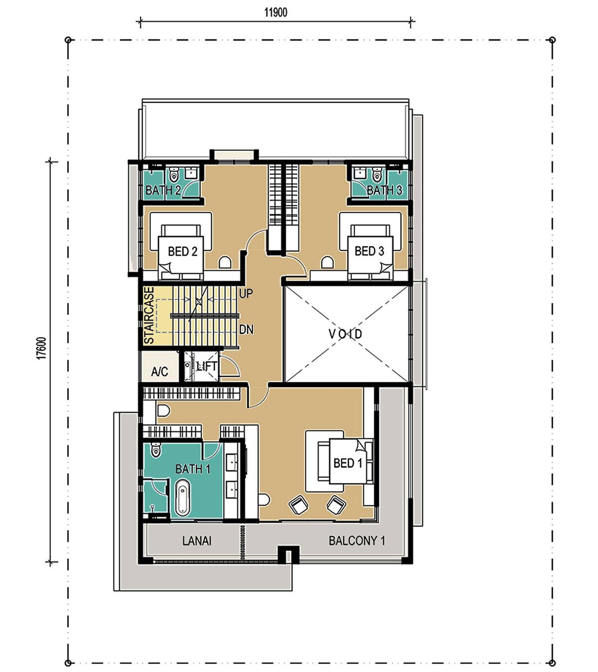 3-Storey - Bungalow - First Floor