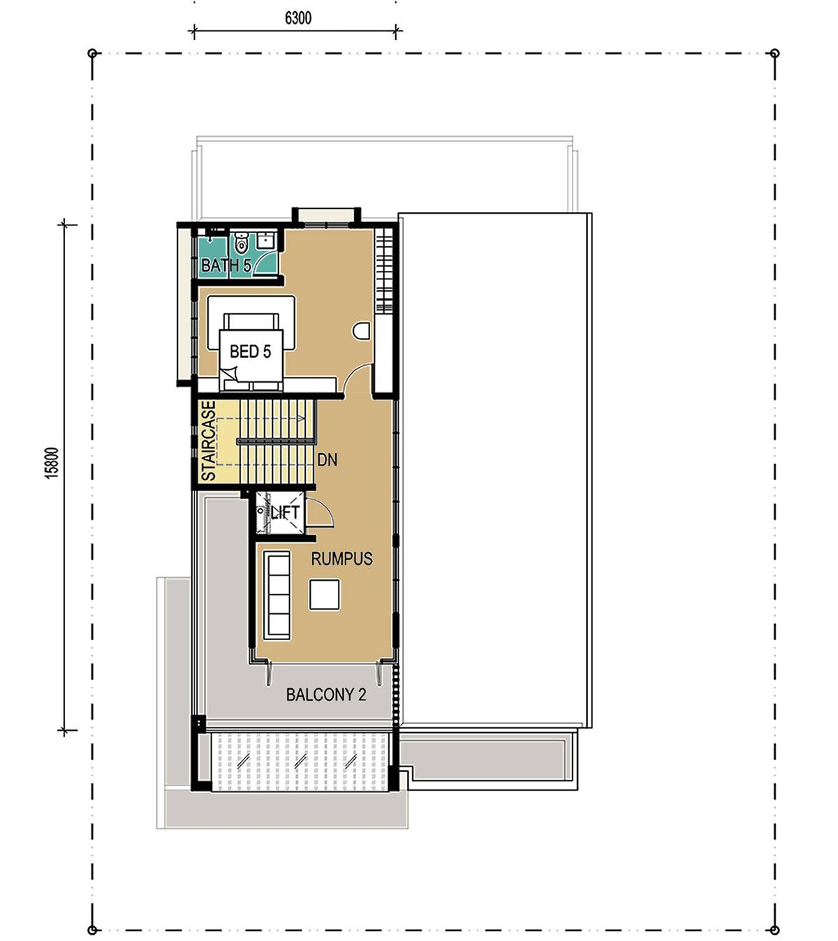 3-Storey - Bungalow - Second Floor