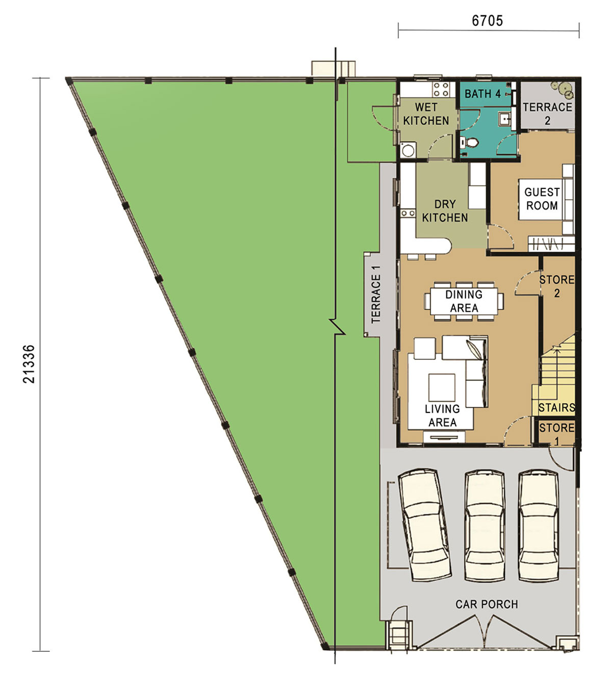 2-Storey Link Home - Corner Unit - Ground Floor