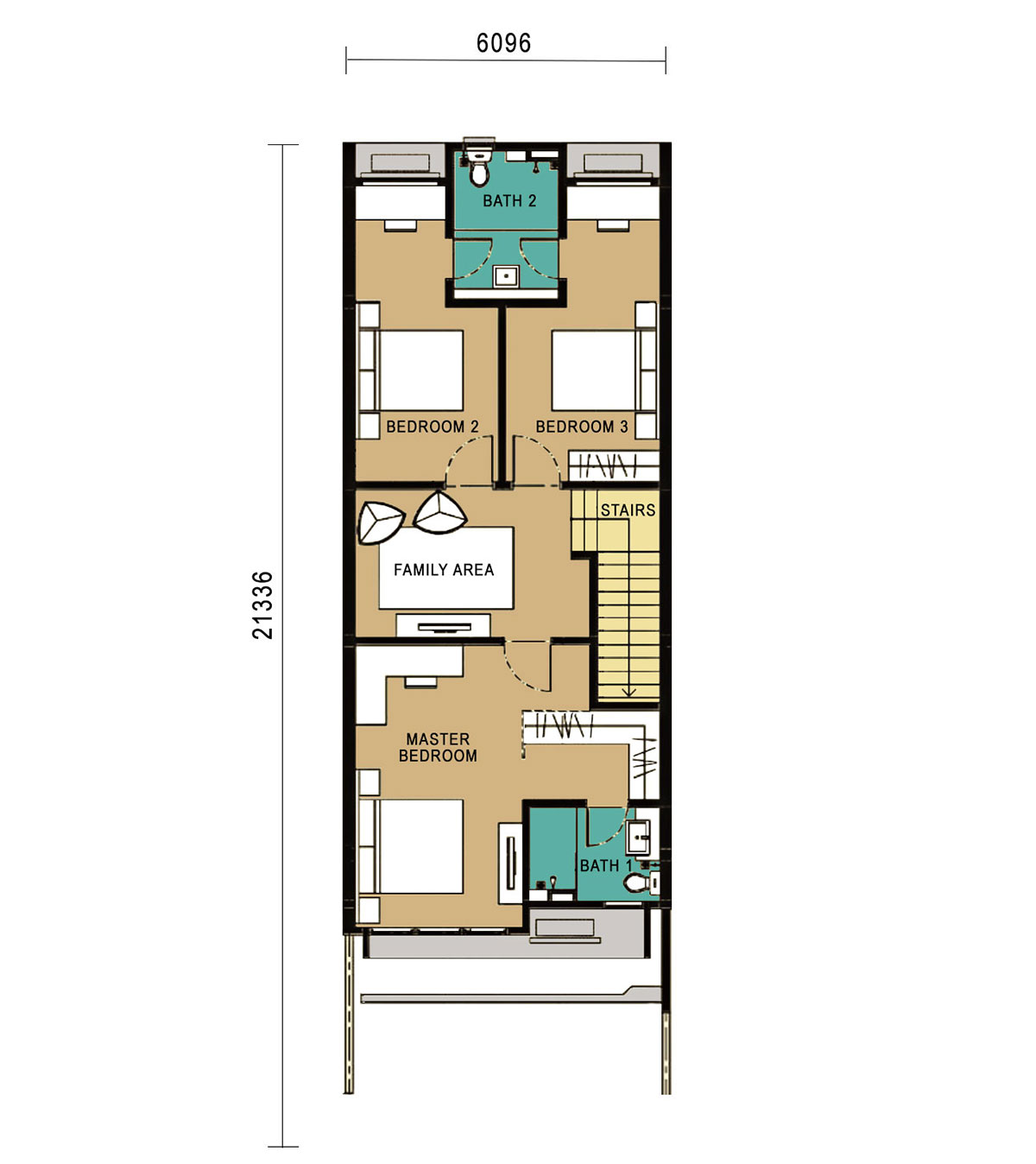 The Valley West - Link Home - Intermediate Unit - First Floor