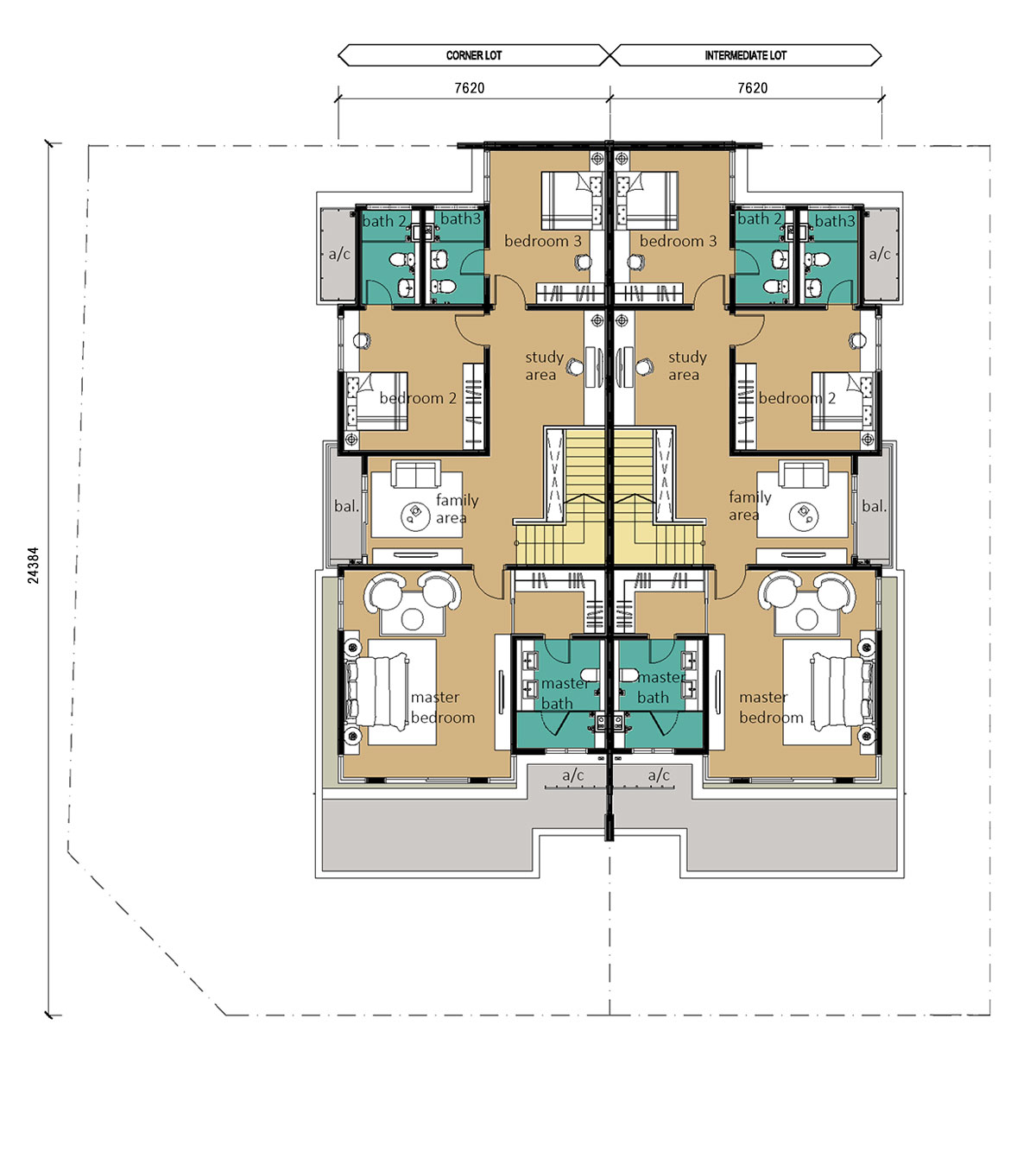 2 Storey - Cluster - Type C - First Floor
