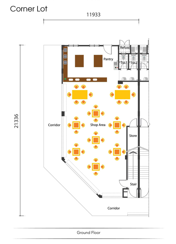 3-STOREY SHOP OFFICE Ground Floor