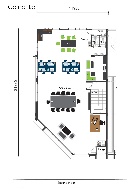 3-STOREY SHOP OFFICE Second Floor